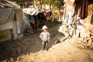 Poor child in Nepal.